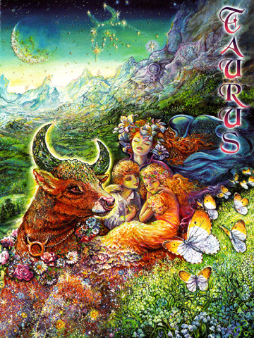 On a good day. Taurus by Josephine Wall