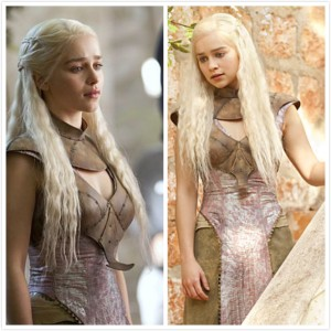 See the leather yoke/collar Daenerys is wearing? I feel like I'm wearing that too...except without her grace :)