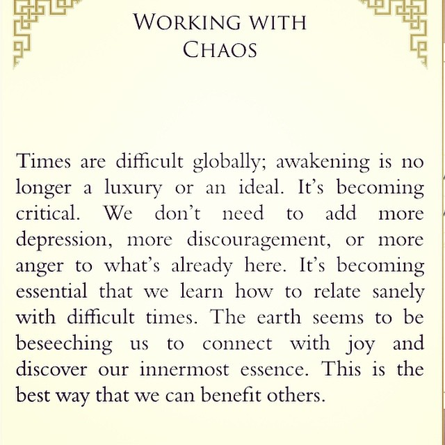 From Pema Chodron's When Things Fall Apart app...