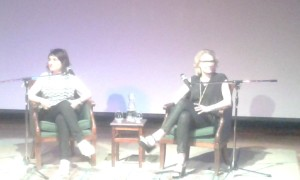 Elizabeth Gilbert and Rayya Ellias in conversation at Byron Bay.