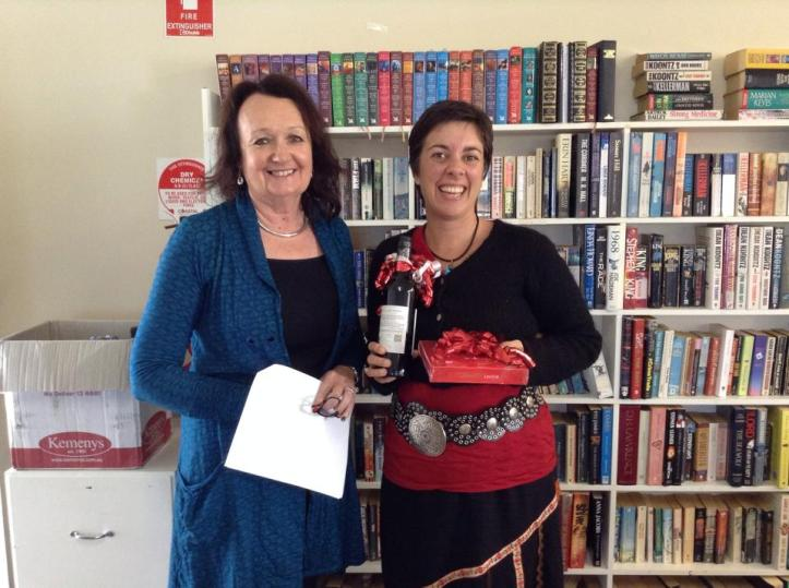 Second place prizes, cheesy grin and our judge, Leonie Henschke.