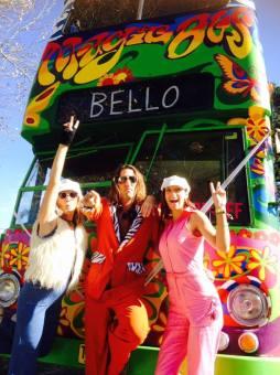 The magic bus and its disco crew. So fun :)