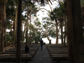 The Green Chapel - in the middle of a palm forest with the bay as a backdrop. I am not a church goer, but I would go here. I just wanted to pray as soon as I saw it.