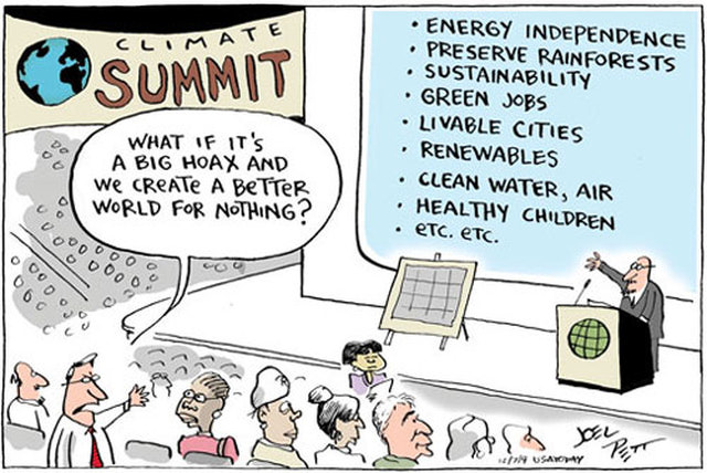 Climate Change political comic